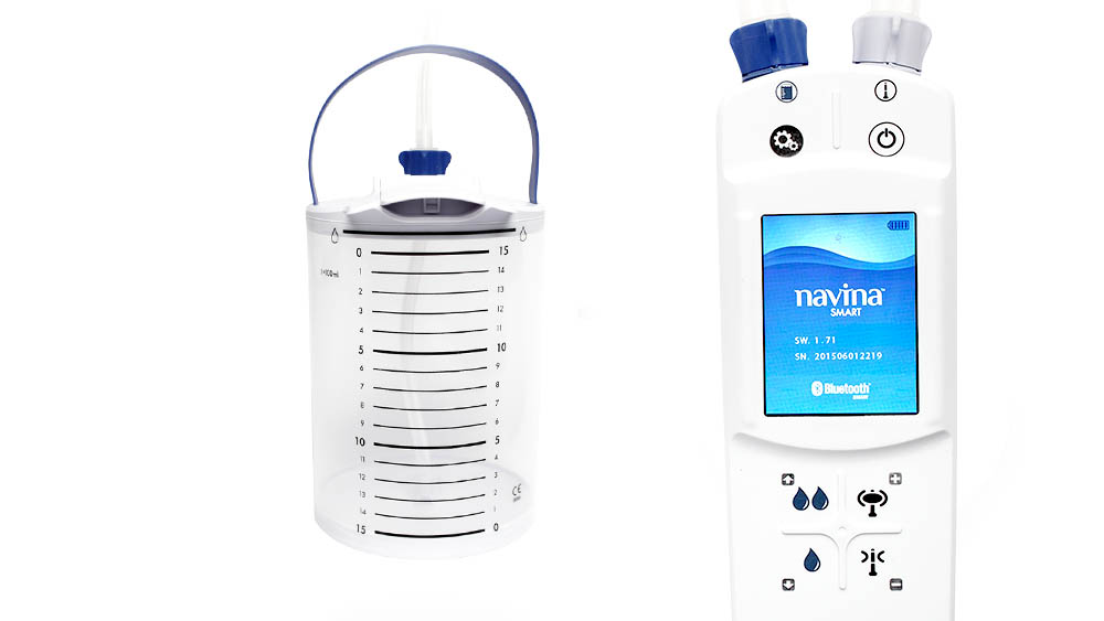 Wellspect Navina Smart device and container